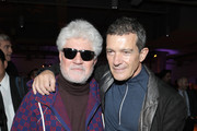 (L-R) Director Pedro Almodovar and actor Antonio Banderas attend The Oscars International Feature Film Nominees Cocktail Reception on February 07, 2020 in Los Angeles, California.