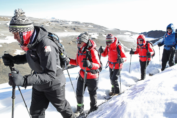 'Kilimanjaro: The Return' For Red Nose Day [snow,ski mountaineering,outdoor recreation,mountaineer,ski equipment,winter,mountaineering,ski touring,recreation,adventure,dani dyer,anita rani,osi umenyiora,leigh-anne pinnock,editorial use,charge,funds,l-r,kilimanjaro: the return for red nose day,images]