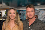 Samantha Hemsworth (L) and Luke Hemsworth attend the launch of S.E.A. JEANS, celebrated by Outerknown, at Ron Herman Melrose on August 30, 2018 in Los Angeles, California.