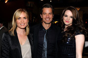 "(L-R) Actors Radha Mitchell, Timothy Olyphant and Danielle Panabaker arrive at Overture's ""The Crazies"" VIP screening at the Vista Theatre on February 23, 2010 in Los Angeles, California."