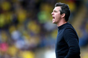 Joey Barton manager of Fleetwood Town gestures during the Sky Bet League One match between Oxford United and Fleetwood Town at Kassam Stadium on August 11, 2018 in Oxford, United Kingdom.