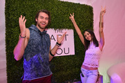 Pierson Fode and Victoria Justice attend the Siwy Denim fashion show at the PANDORA Jewelry Experience #ArtofYou on April 10, 2015 in Palm Springs, California.