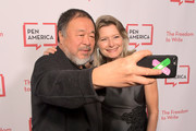 Ai Weiwei (L) and Jennifer Egan attend PEN America 2018 LitFest Gala at the Beverly Wilshire Four Seasons Hotel on November 02, 2018 in Beverly Hills, California.