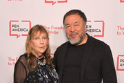 Jamie Wolf and Ai Weiwei attend PEN America 2018 LitFest Gala at the Beverly Wilshire Four Seasons Hotel on November 02, 2018 in Beverly Hills, California.