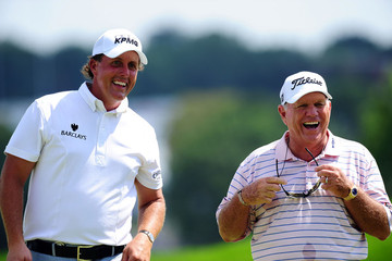Phil Mickelson Butch Harmon PGA Championship - Preview Day 3