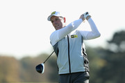 David Higgins of Waterville Golf Links in action during Day 1 of the PGA Play-Offs at Walton Heath Golf Club on October 30, 2017 in Tadworth, England.