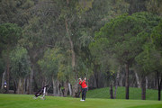Colm Moriarty of Drive Golf Performance Limited plays his second shot on the 11th fairway during the second round of the PGA Play-Offs at Antalya Golf Club - PGA Sultan Course on November 28, 2015 in Antalya, Turkey.