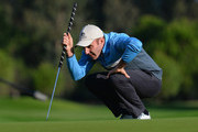 Colm Moriarty of Drive Golf Performance Limited lines up a putt during the fourth round of the PGA Play-Offs at Antalya Golf Club - PGA Sultan Course on November 30, 2015 in Antalya, Turkey.