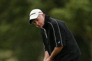 John Gallagher of Farthington Hotel & Golf during day one of the PGA Super 60s Tournament at Caldy Golf Club on August 19, 2015 in Caldy, England.
