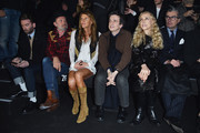Robert Rabensteiner, Anna Dello Russo, Franca Sozzani and Giorgio Guidotti attend the Philipp Plein show as a part of Milan Menswear Fashion Week Fall Winter 2015/2016 on January 17, 2015 in Milan, Italy.