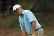 Jason Dufner of the United States reacts on the 14th green during the final round of THE PLAYERS Championship on the Stadium Course at TPC Sawgrass on May 13, 2018 in Ponte Vedra Beach, Florida.