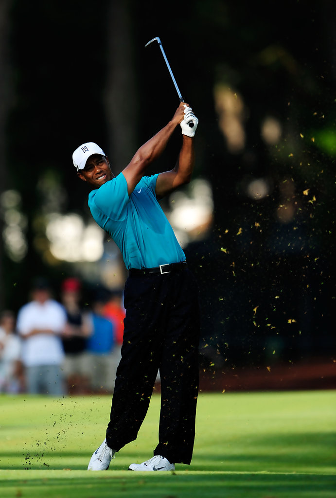 tiger woods in the players championship - round two