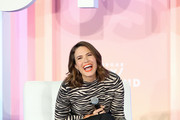 Mandy Moore speaks onstage during the Power Your Evolution with Mandy Moore panel during the POPSUGAR Play/ground at Pier 94 on June 22, 2019 in New York City.