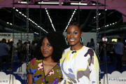 (L-R) Amy Aniobi and Issa Rae attend the POPSUGAR Play/Ground at Pier 94 on June 23, 2019 in New York City.