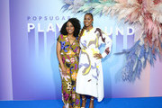 Amy Aniobi and Issa Rae attend the POPSUGAR Play/Ground at Pier 94 on June 23, 2019 in New York City.