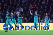 Harry Kane of Tottenham Hotspurs celebrates after scoring his team's second goal during the Group B match of the UEFA Champions League between PSV and Tottenham Hotspur at Philips Stadion on October 24, 2018 in Eindhoven, Netherlands.