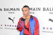 Balmain Creative Director Olivier Rousteing attends PUMA x Balmain created with Cara Delevingne LA Launch Event at Milk Studios on November 21, 2019 in Los Angeles, California.