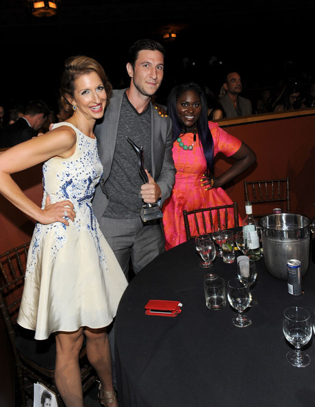 Backstage at the Young Hollywood Awards  [fashion,event,lady,dress,party,formal wear,fashion design,prom,little black dress,nightclub,audience,actors,danielle brooks,pablo schreiber,alysia reiner,young hollywood awards,l-r,samsung galaxy - backstage,samsung galaxy,the wiltern]