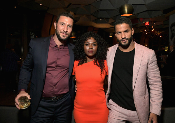 Starz 2019 Winter TCA Panel And All-Star After Party [event,fashion,suit,fun,facial hair,night,formal wear,dress,party,performance,ricky whittle,yetide badaki,pablo schreiber,all-star after party,l-r,california,los angeles,starz,winter tca panel]
