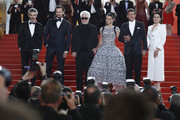 "Leonardo Sbaraglia, Asier Etxeandia, Director Pedro Almodovar, Penelope Cruz, wearing Atelier Swarovski Fine Jewelry, Antonio Banderas and Nora Navas depart the screening of ""Pain And Glory (Dolor Y Gloria/Douleur Et Gloire)"" during the 72nd annual Cannes Film Festival on May 17, 2019 in Cannes, France."
