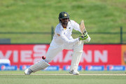 Shoaib Malik of Pakistan bats during Day Two of the First Test between Pakistan and England at Zayed Cricket Stadium on October 14, 2015 in Abu Dhabi, United Arab Emirates.