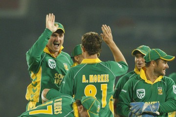 Albie Morkel Graeme Smith Pakistan v South Africa - One Day International Series