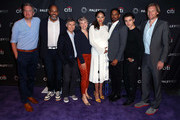 "(L-R) Tim McAuliffe, Victor Williams, Chris Parnell, Stephnie Weir, Amber Stevens West, Damon Wayans Jr., Felix Mallard and Austen Earl from ""Happy Together"" attend The Paley Center for Media's 2018 PaleyFest Fall TV Previews - CBS at The Paley Center for Media on September 12, 2018 in Beverly Hills, California."