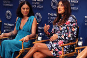 Rosa Salazar (L) and Angelique Cabral of 'Undone' appear on stage at The Paley Center For Media's 2019 PaleyFest Fall TV Previews - Amazon at The Paley Center for Media on September 06, 2019 in Beverly Hills, California.