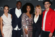 "(L-R) Jessica Camacho, J. Alex Brinson, Simone Missick, Marg Helgenberger and Wilson Bethel of ""All Rise"" attend The Paley Center for Media's 2019 PaleyFest Fall TV Previews - CBS at The Paley Center for Media on September 12, 2019 in Beverly Hills, California."