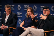 "(L-R) Holt McCallany, Anna Torv and David Fincher of ""Mindhunter"" appear on stage at The Paley Center for Media's 2019 PaleyFest Fall TV Previews - Netflix at The Paley Center for Media on September 15, 2019 in Beverly Hills, California."
