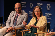 Raphael Bob-Waksberg (L) amd Kate Purdy of 'Undone' appear on stage at The Paley Center For Media's 2019 PaleyFest Fall TV Previews - Amazon at The Paley Center for Media on September 06, 2019 in Beverly Hills, California.