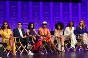 "Dominique Jackson, Steven Canals, Janet Mock, Billy Porter, Indya Moore, MJ Rodriguez and Our Lady J attend the Paley Center For Media's 2019 PaleyFest LA - ""Pose"" held at the Dolby Theater on March 23, 2019 in Los Angeles, California."