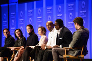 """(L-R) Executive producers Greg Berlanti, Ali Adler, actors Melissa Benoist, Calista Flockhart, Chyler Leigh, Mehcad Brooks, David Harewood, and Jeremy Jordan attend The Paley Center For Media's 33rd Annual PALEYFEST Los Angeles """"Supergirl"""" at Dolby Theatre on March 13, 2016 in Hollywood, California."""