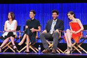 "(L-R) Actors Alyson Hannigan, Cobie Smulders, Josh Radnor and Christin Milloti on stage at The Paley Center For Media's PaleyFest 2014 Honoring ""How I Met Your Mother"" Series Farewell at Dolby Theatre on March 15, 2014 in Hollywood, California."