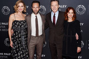"""Erinn Hayes, Chris Diamantopoulos, Bryan Cranston and Swoosie Kurtz attend The Paley Center For Media Presents: """"A Conversation With Bryan Cranston"""" at The Paley Center for Media on March 29, 2018 in New York City."""