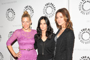 """(L-R) Busy Phillips, Courteney Cox and Christa Miller attend a """"Cougar Town"""" viewing party at the Paley Center For Media on February 11, 2012 in New York City."""
