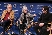 """(L-R) Russ Tamblyn, Rita Moreno and George Chakiris appear on stage at """"Words On Dance: Jerome Robbins and West Side Story"""" presented by The Paley Center for Media at The Paley Center for Media on October 11, 2018 in Beverly Hills, California."""
