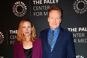 Liza Powel O'Brien and Conan O'Brien attend The Paley Honors: A Special Tribute To Television's Comedy Legends at the Beverly Wilshire Four Seasons Hotel on November 21, 2019 in Beverly Hills, California.