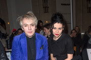 Nick Rhodes and Nefer Suvio attend the the Pam Hogg show at Freemasons Hall during London Fashion Week Fall/Winter 2013/14 on February 16, 2013 in London, England.