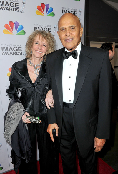 Pamela Frank Actor Harry Belafonte (R) and Pamela Frank arrives at the 43rd NAACP Image Awards held at The Shrine Auditorium on February 17, 2012 in Los Angeles, California.