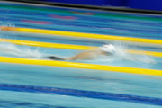 Katie Ledecky of the United States competes in the Women's 400m Freestyle heat on day three of the Pan Pacific Swimming Championships at Tokyo Tatsumi International Swimming Center on August 11, 2018 in Tokyo, Japan.