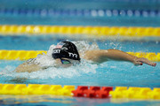 Katie Ledecky of the United States competes in the Women's 400m Freestyle Final on day three of the Pan Pacific Swimming Championships at Tokyo Tatsumi International Swimming Center on August 11, 2018 in Tokyo, Japan.