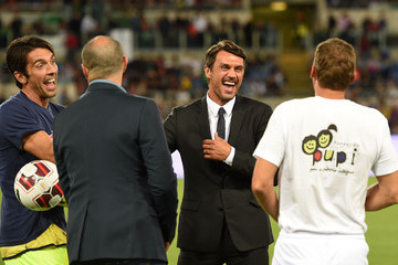 Paolo Maldini Gianluigi Buffon Interreligious Match for Peace