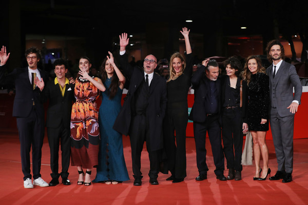 """""""Notti Magiche"""" Red Carpet Arrivals - 13th Rome Film Fest [event,carpet,performance,fashion,stage,premiere,red carpet,flooring,performing arts,formal wear,red carpet arrivals,notti magiche,rome film fest,guest,l-r,screening,mauro lamantia,giovanni toscano,paolo sassanelli,paolo virzi]"""