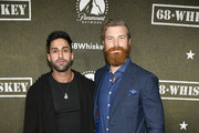 """(L-R) Sunny Dhillon and Derek Theler attend Paramount Network's """"68 Whiskey"""" Premiere Party at Sunset Tower on January 14, 2020 in Los Angeles, California."""