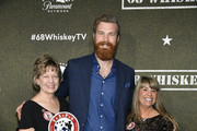 """Derek Theler (C) attends Paramount Network's """"68 Whiskey"""" Premiere Party at Sunset Tower on January 14, 2020 in Los Angeles, California."""