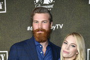 """(L-R) Derek Theler and Lisa Summerscales attend Paramount Network's """"68 Whiskey"""" Premiere Party at Sunset Tower on January 14, 2020 in Los Angeles, California."""