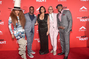 "Erykah Badu, James Lopez, Taraji P. Henson, Adam Shankman and Will Packer attendsthe premiere of Paramount Pictures and BET Films' ""What Men Want"" at Regency Village Theatre on January 28, 2019 in Westwood, California."