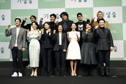 Director Bong Joon-ho,  actor Song Kang-ho, Cho Yeo-jeong, Lee Sun-kyun, Park So-Dam, Chang Hye-jin, Lee Jeong-eun, Park Myung-Hoon, editor Yang Jin-mo, writer Han Jin-won and producer Kwak Sin-ae attend the press conference on February 19, 2020 in Seoul, South Korea. 'Parasite' won the best picture category at the 92nd Academy Awards for the first time as a non-English language film.