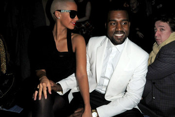 Kanye West Amber Rose Paris Fashion Week Haute Couture S/S 2010 - Givenchy - Arrivals